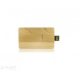 Pendrive tarjeta Madera 4 y 8 GB